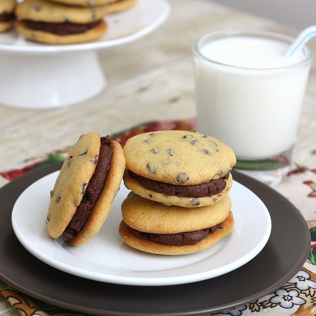 Mint Chocolate Chip Whoopie Pies Recipe — Dishmaps