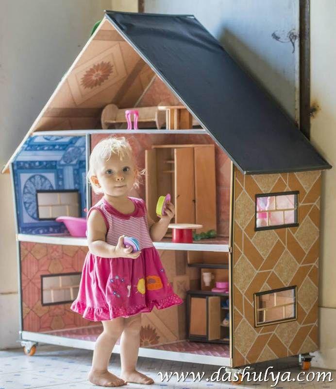Деревянные домики для барби своими руками