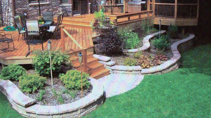 Beautiful Backyard Decks : Backyard Deck Ideas  Beautiful Small Backyard Deck With Stairs And