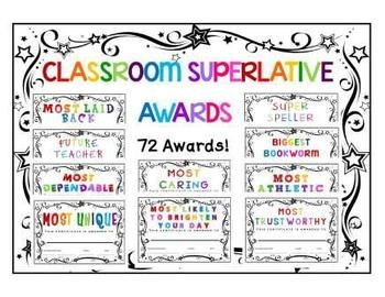 Choose from over 72 end of year awards for your students! **HUGE ...
