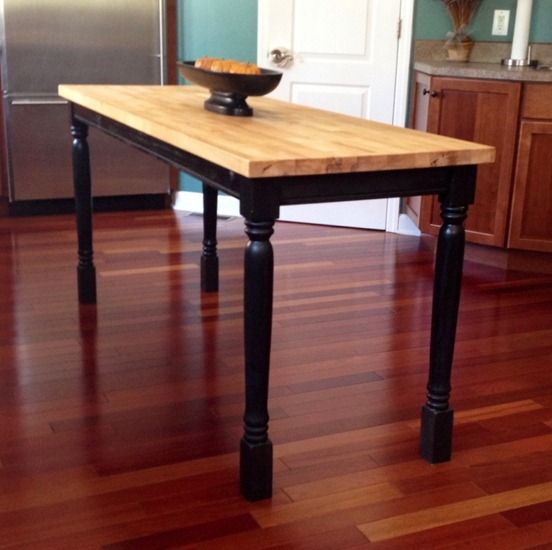outdoor table to butcher block counter butcher block