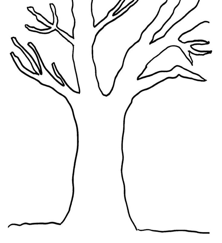 Simple Tree Roots Coloring Coloring Pages Simple Tree Coloring Page