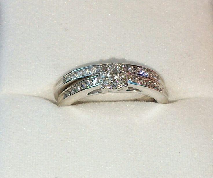 Bridal ring set, 12 carat, from Argos.