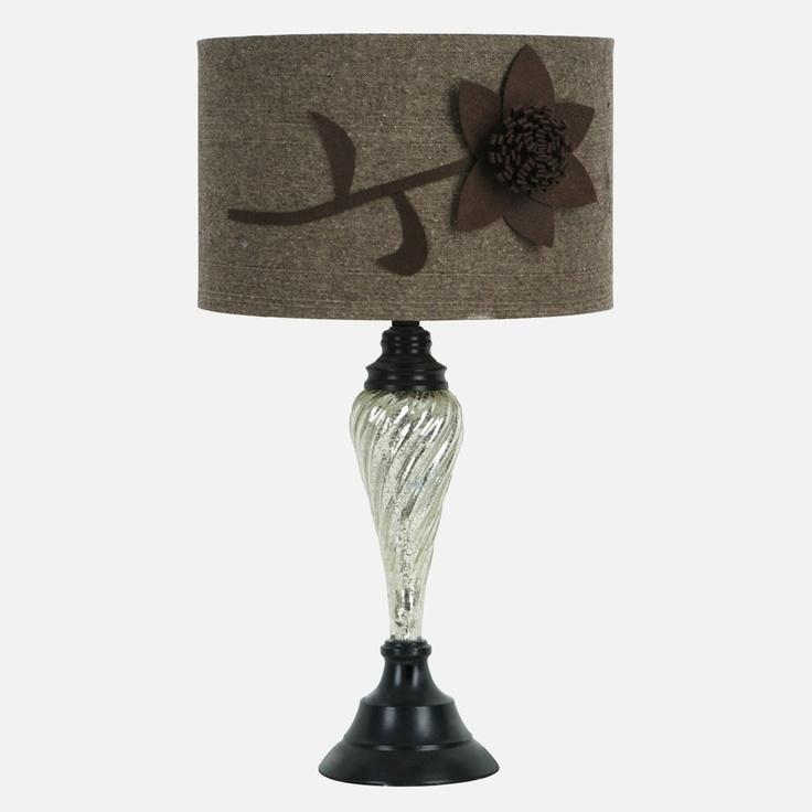 table lamps j hunt mercury glass table lamp with cfl bulb shopko. Black Bedroom Furniture Sets. Home Design Ideas