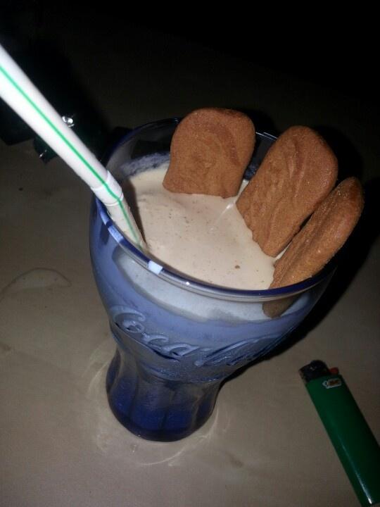 """Biscoff milkshakes.....""""Hey there little biscoff cookies. Wanna go ..."""