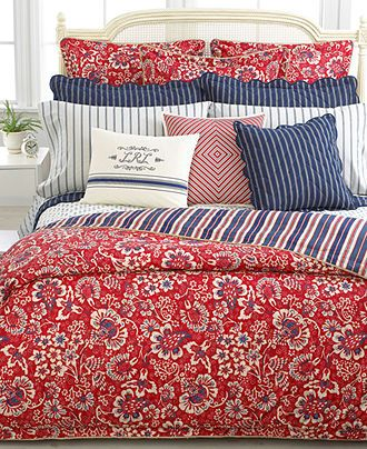 Red white and blue bedding classic all red pinterest - Red white and blue sheets ...