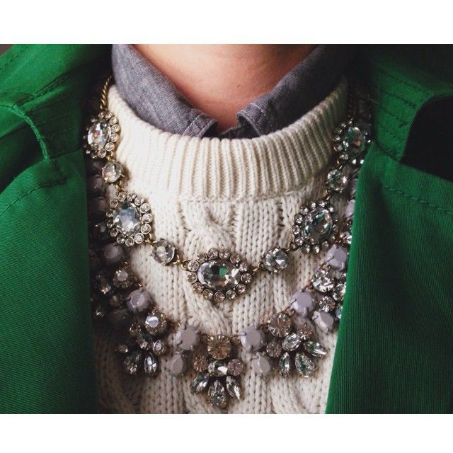 green + layers + bling
