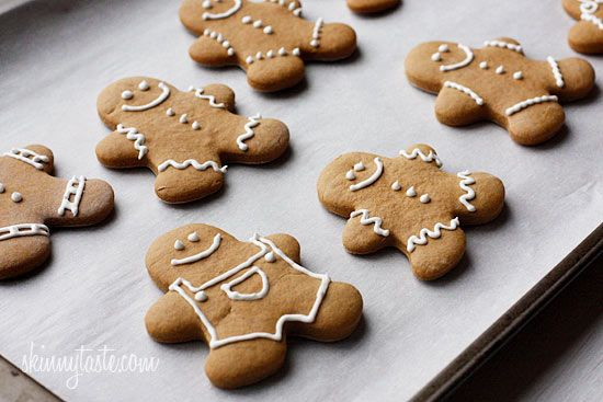 low-fat gingerbread cookies -- not bad for the calorie content; the ...