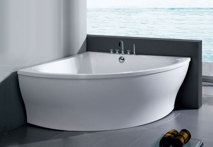 freestanding acrylic corner bathtub for the home pinterest. Black Bedroom Furniture Sets. Home Design Ideas