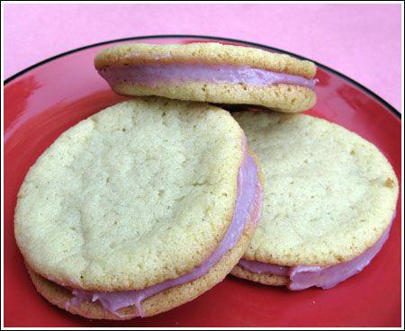 Raspberry Cream Sandwich Cookies | Desserts / Cookies | Pinterest