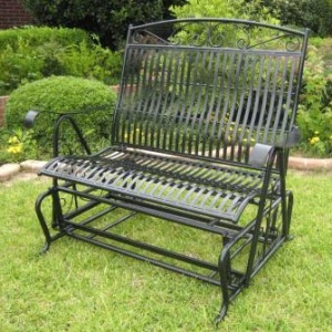 Wrought Iron Glider My Big Outdoor Living Room Pinterest