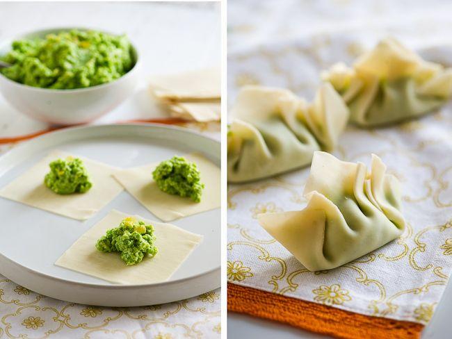 Vegetarian Dumpling Recipe with Peas | Vegetarian Gyoza Pot Stickers