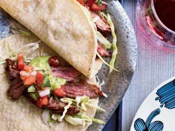 Chili-Spiced Skirt Steak Tacos | KitchenDaily.com