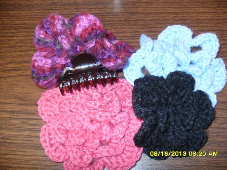 Crochet Hair Ties Pinterest : crocheted flower hair ties Crochet Projects and More Pinterest