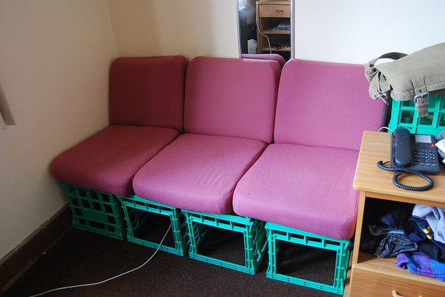 Reading Sofas : Reading sofa made with milk crates  Education  Pinterest