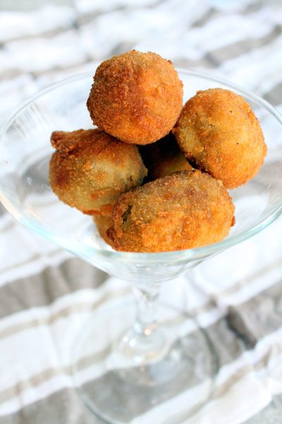 ... olives stuffed with blue cheese. Can you imagine those fried with a