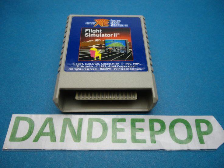 Atari XE Flight Simulator II 1984 c. 1987 RX8091 Video Game Cartridge