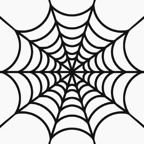 Spider web coloring sheet