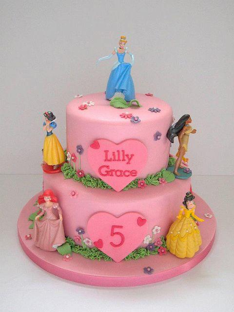 disney princess cake | Lilly's Disney Princess Birthday Cake | Flickr - Photo Sharing!