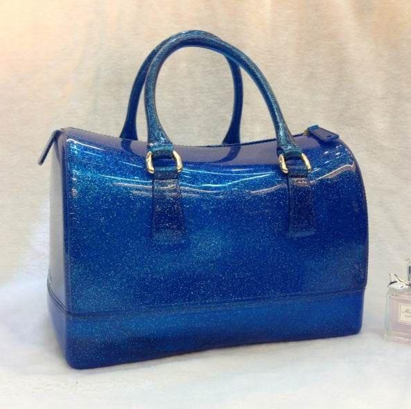 Furla Glitter Candy Bauletto-Tasche Bag Royal Blue