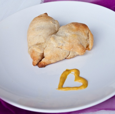 Sweet Treats and More: Appetizers Ham & Swiss Cheese Crescent hearts