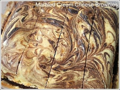 Marbled Cream Cheese Brownies-- cream cheese layer
