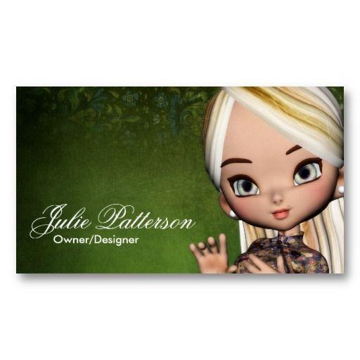 Little Cookie Asian Girl Fantasy Business Card: pinterest.com/pin/397161260859804726