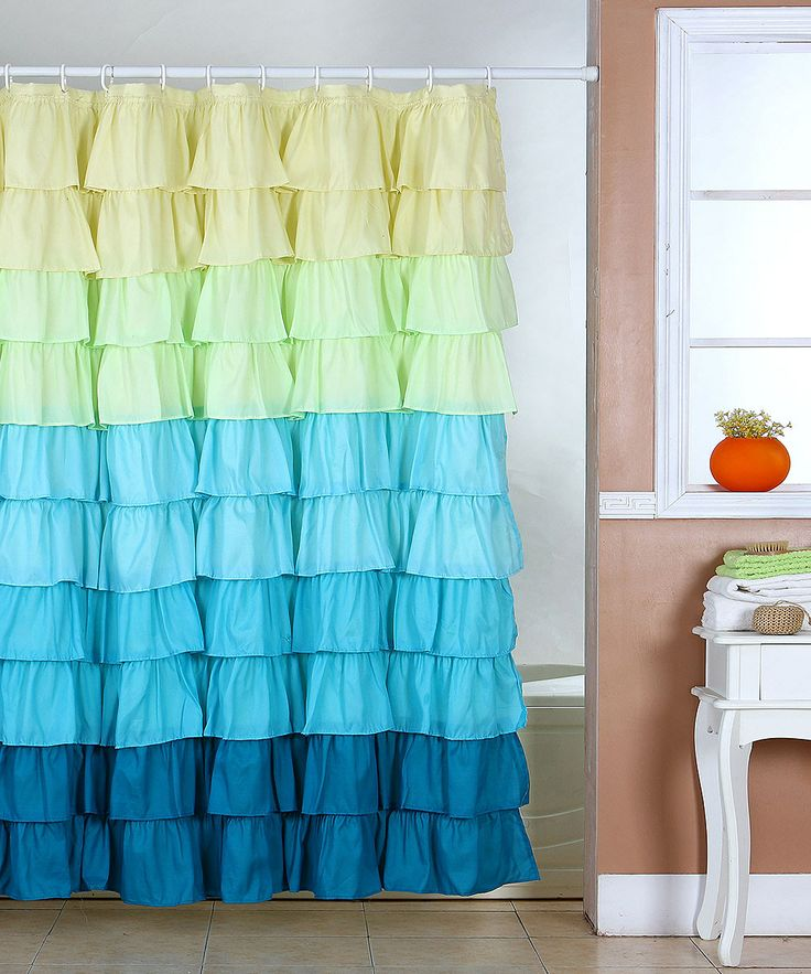 lavish home spring ruffle shower curtain