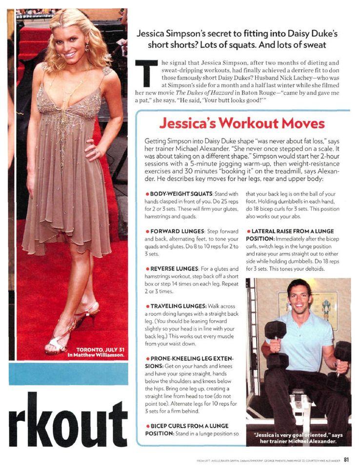 Jessica Simpson's Daisy Duke workout | one hot momma ...