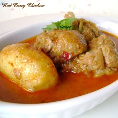 Thai Red Chicken Curry   Indonesian Food Recipes   Pinterest