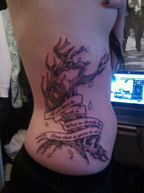 At least it's more creative. All the LOTR tattoos are tree of gondor, ring or Aragorn poem or giant murals