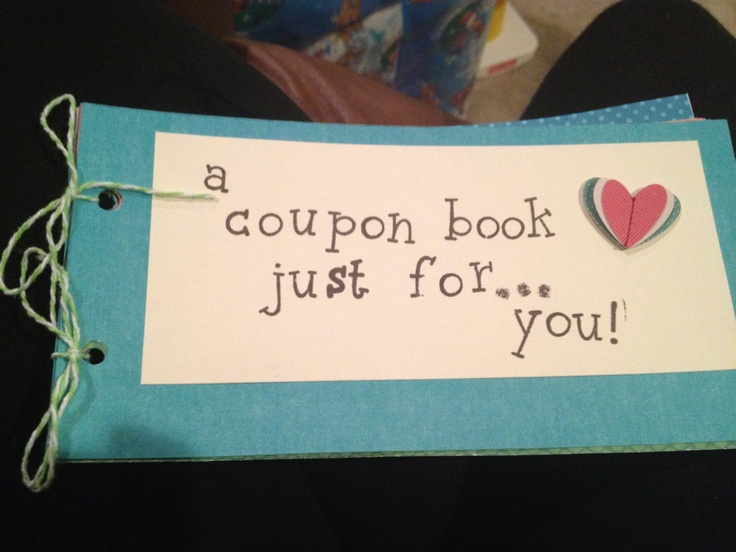 Made a coupon book for my boyfriend full of things he 39 d for Coupons for my boyfriend
