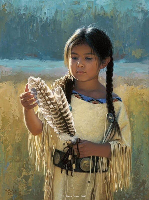 Risultati immagini per nativi indiani natura bambino