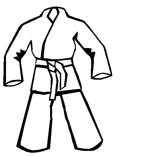 karate coloring pages for kidsBlack Karate Cartoon
