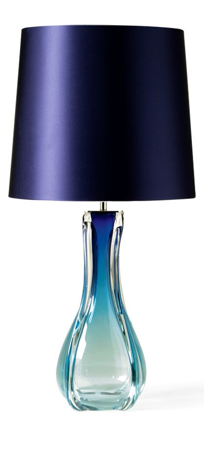 pin by instyle decor hollywood on blue glass table lamps. Black Bedroom Furniture Sets. Home Design Ideas