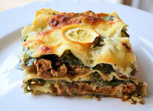 Vegetarian Delight: Veggie Sausage, Chard, and Lemon Lasagna