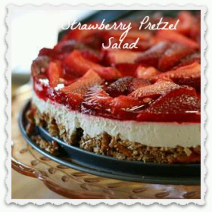 Strawberry pretzel salad | Food | Pinterest