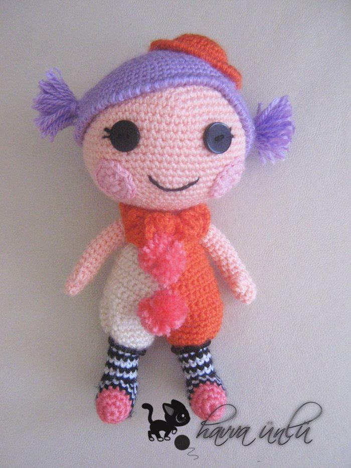 Sock Monkey Amigurumi Pattern : Amigurumi lalaloopsy doll pattern