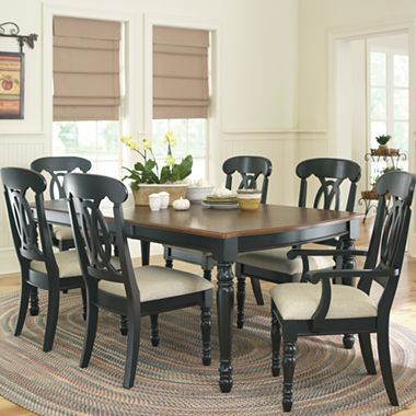 raleigh 7 pc dining set black