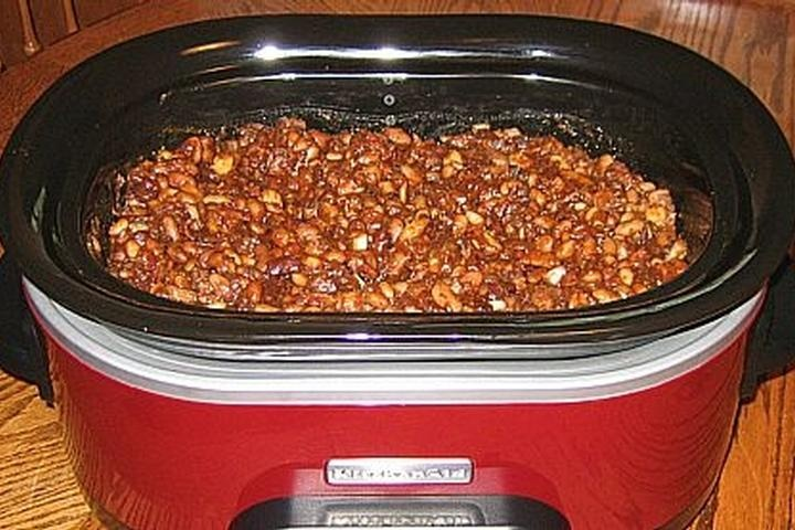 crock pot baked beans | Good eats | Pinterest
