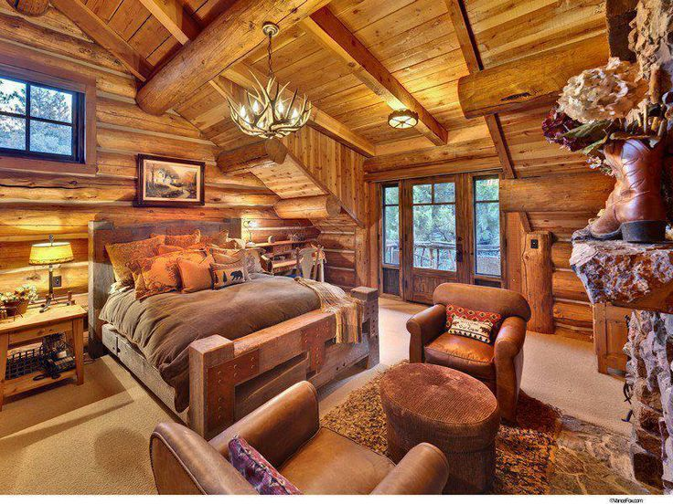 Amazing Log Cabin Room Beautiful Homes Pinterest