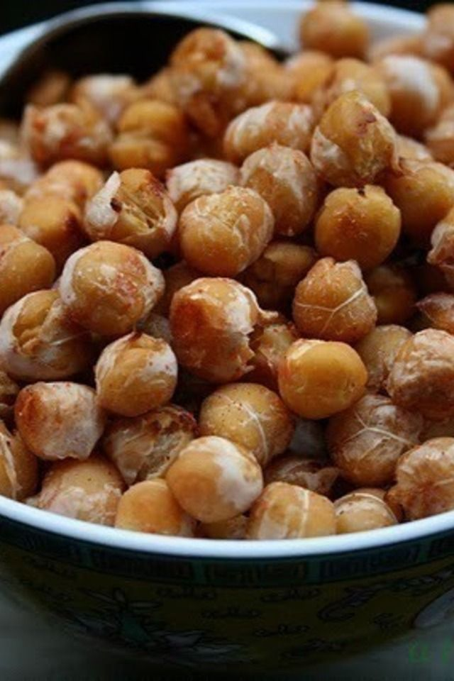 Oven Roasted Sweet and Spicy Chickpeas | No Pain...No Gain | Pinterest