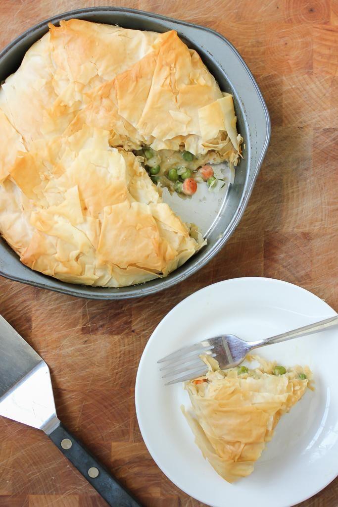 Chicken Recipes Vegan Chicken Pot Pie with a Flaky Phyllo Crust recipe