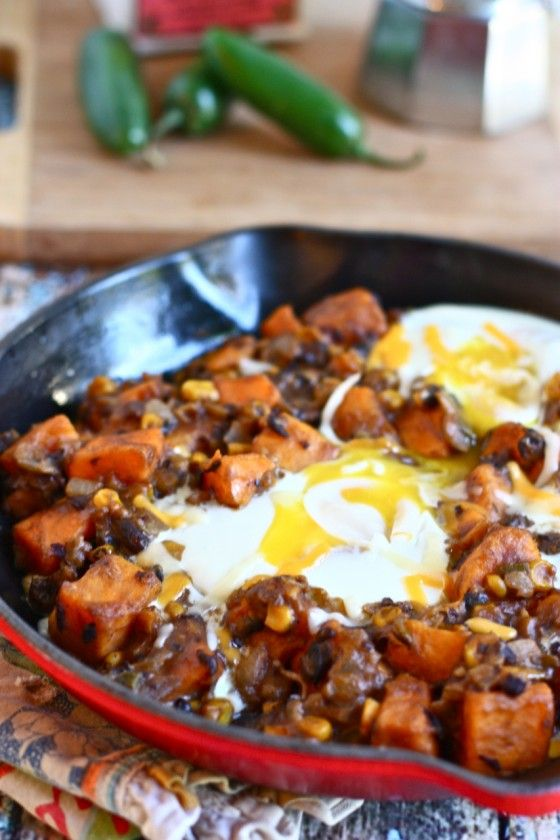 southwestern sweet potato breakfast skillet - I've made this a bunch ...