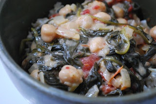 Braised Coconut Spinach Chickpeas with Lemon (one of my faves... J ...