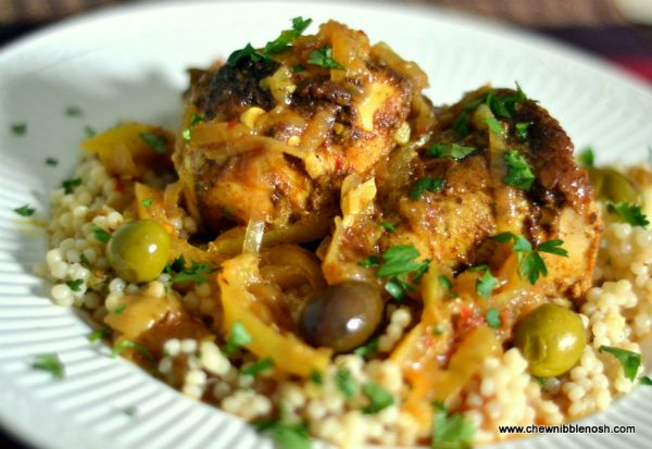 Moroccan Chicken Tagine with Olives, Preserved Lemons and Couscous ...