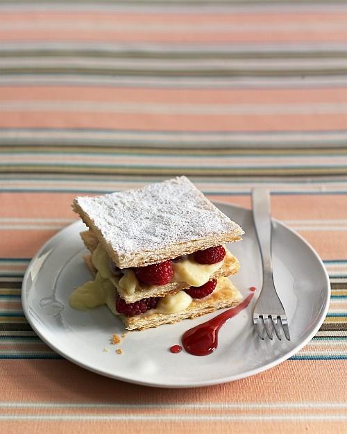 Raspberry Napoleons - Martha Stewart Recipes