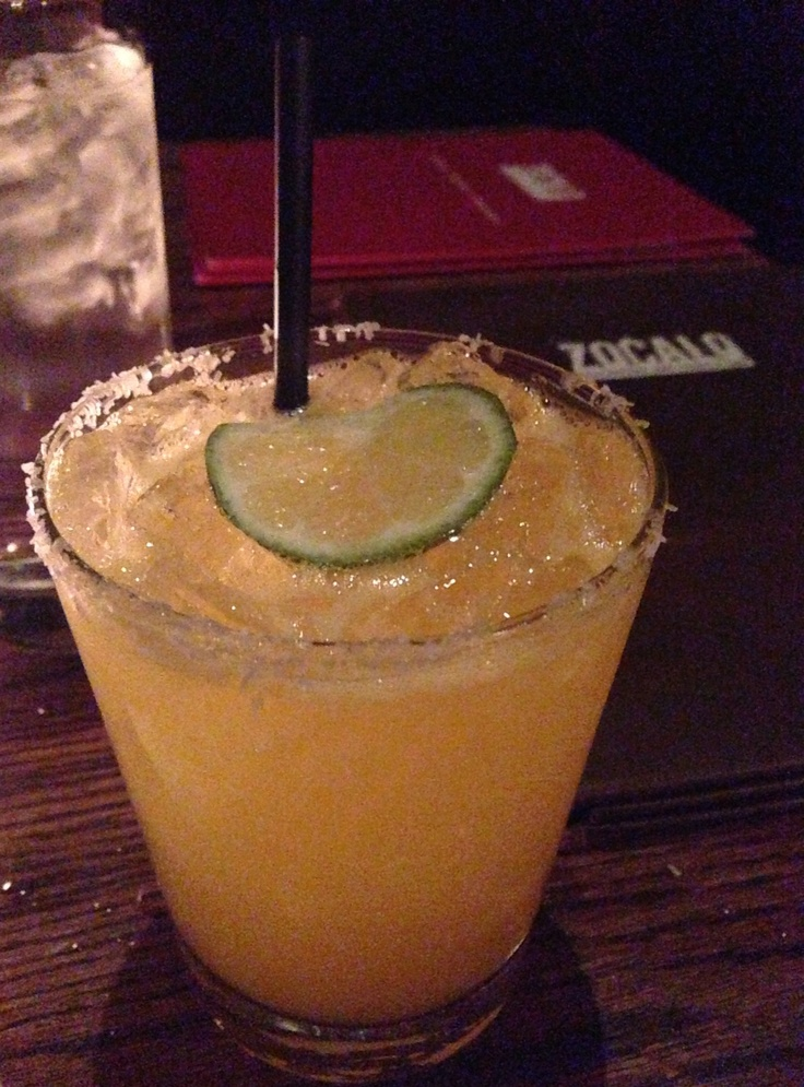 Tangerine ginger margarita at Zocalo in Chicago.