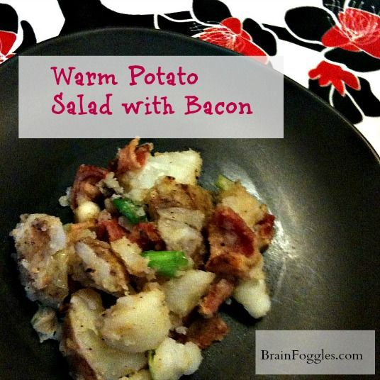 Warm Potato Salad with Bacon #BaconLove | Glorious Food | Pinterest