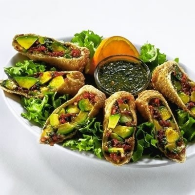 avocado egg rolls from Cheesecake Factory....order extra dipping sauce ...
